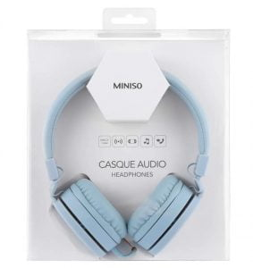 MINISO Foldable Headphone Comfortable Rotatable Adjustable Headphone for Android and iOS Mobile Phones, Computers, Laptops, Music Player,Blue