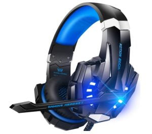 BENGOO G9000 Stereo Gaming Headset for PS4 PC Xbox One PS5 Controller, Noise Cancelling Over Ear Headphones with Mic, LED Light, Bass Surround, Soft Memory Earmuffs for Laptop Mac Nintendo NES Games