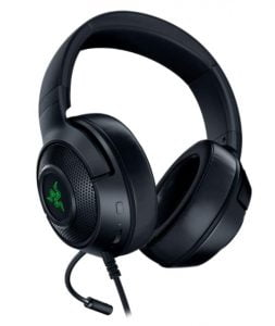 Razer Kraken X USB 7.1 Surround Sound Ultralight Gaming Headset with Green Earcup Lighting and Integrated Audio Controls - Black - RZ04-02960100-R3M1