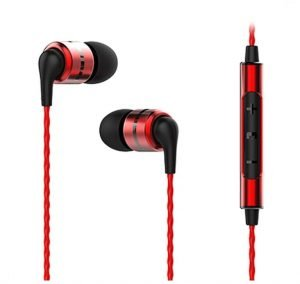 SoundMagic E80C in Ear Isolating Earphones with Microphone (Red)