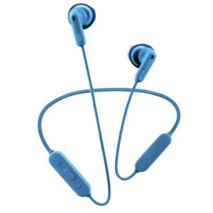 JBL Tune 215BT by Harman, in Ear Bluetooth Wireless Earphones with Mic, 16 Hours Playtime with Quick Charge, Pure Bass, Dual Pairing, Type C & Voice Assistant Support for Mobile Phones (Blue)