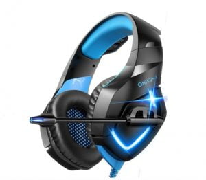 ONIKUMA Gaming Headset-Over Ear Gaming Headphone with Microphone,Noise Canceling Stereo Sound Noise,Soft Memory Ear Cup for PC,PS4,PS5,Nintendo 64,Xbox One,Laptops