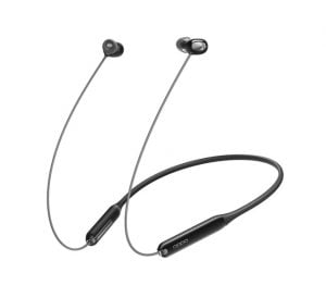 OPPO Enco M31 Bluetooth Neckband Earphones with Mic, Support AI-Powered Noise Reduction During Calls, Long Battery Life for Calls and Music, IPX5 Water Resistant,Supports Android and iOS(Black)