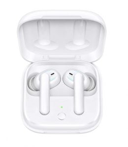 OPPO Enco W51 Bluetooth Wireless Earphones with Mic, Support (ANC) Hybrid Active Noise Cancellation (up-to-35dB), 24H Battery Life, IP54 Dust & Water Resistant,Supports Android and iOS(White)