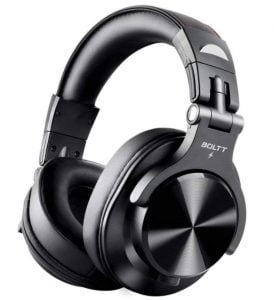 Fire-Boltt Blast 1400 Over -Ear Bluetooth Wireless Headphones with 25H Playtime, Thumping Bass, Lightweight Foldable Compact Design with Google/Siri Voice Assistance