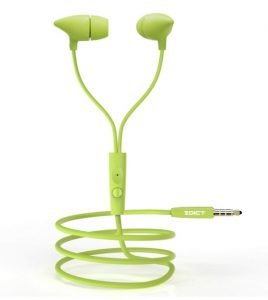 EDICT by Boat EEP01 Wired Earphones with Powerful Bass, Perfect Length Cable, Lightweight Ergonomic Design, Voice Assistant, Multi-Function Control & in-Line Mic(Lime)
