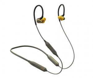 Elgin Rumble Bluetooth Earplug Earbuds, 27 dB Noise Reduction Wireless Headphones with Noise Cancelling Mic, 20 Hour Battery Life, IP67 Waterproof Enclosure, OSHA Compliant Hearing Protection for Work